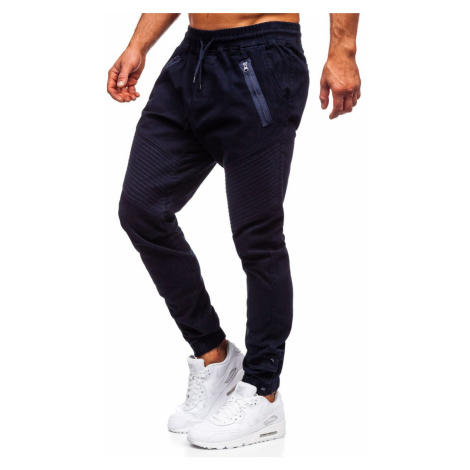Tmavě modré pánské jogger kalhoty Bolf 0952