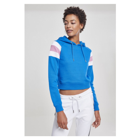 Ladies Sleeve Stripe Hoody - brightblue/white/coolpink Urban Classics