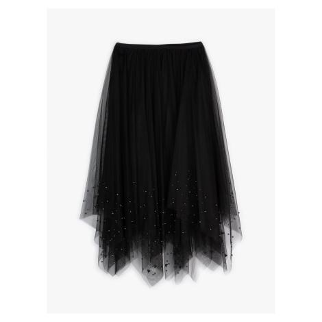 GATE Dlouhá tylová sukně s perlami