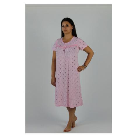 Dlouhá dámská noční košile s krátkými rukávy 441 JULIETTE De Lafense