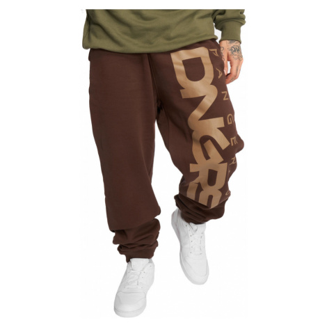 Dangerous DNGRS kalhoty pánské Sweat Pant Classic in brown