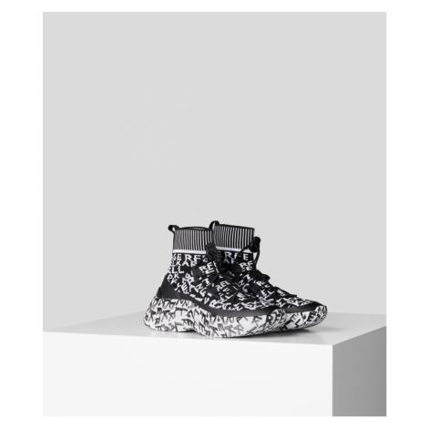 Kotníková Obuv Karl Lagerfeld Skyline Graffiti Pull On Boot - Černá