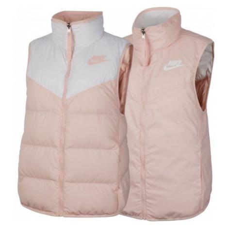 Nike NSW WR DWN FILL VEST REV růžová - Dámská oboustranná vesta