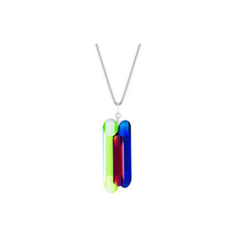 Preciosa Stříbrný náhrdelník s krystaly Neon Collection by Veronica 70 (řetízek, přívěsek)