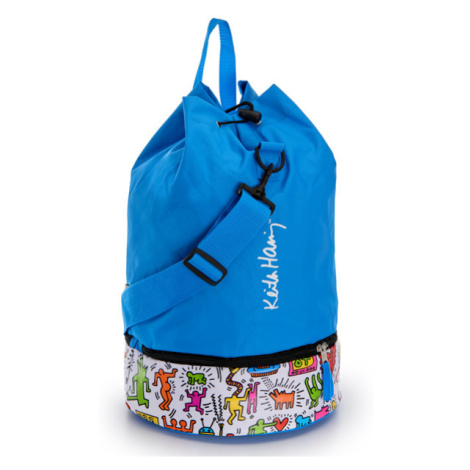 Gio'Style Plážová chladící taška Gio Style Keith Haring 16,5l + 5,5l Barva: modrá
