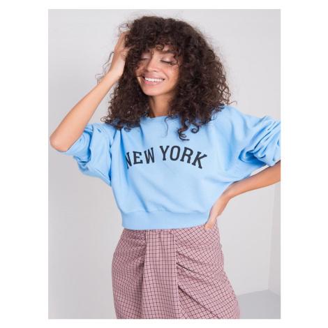 SVĚTLE MODRÁ DÁMSKÁ MIKINA NEW YORK 15471-BLUE