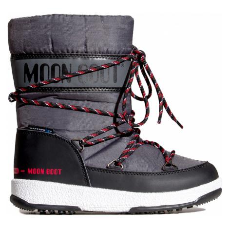Boty Moon Boot JR BOY SPORT WP šedá