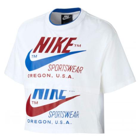 Nike NSW ICN CLSH SS TOP W bílá - Dámské tričko