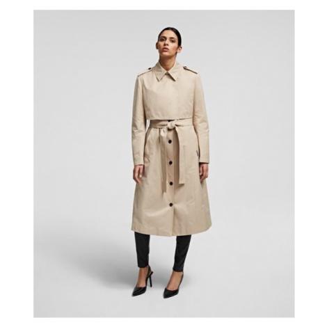 Kabát Karl Lagerfeld Transformer Trench Coat - Hnědá