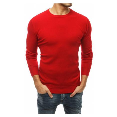 Dstreet Jednoduchý svetr v červené barvě