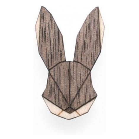 Dřevěná brož Hare Brooch