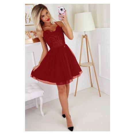 Letní koktejlové šaty plesové krajkové mini šaty na špagetová ramínka