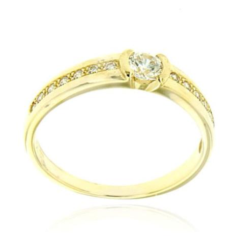 Dámský zásnubní prsten ze žlutého zlata DLR2106