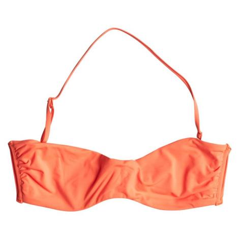 PLAVKY ROXY UNDERWIRE BANDEAU - oranžová