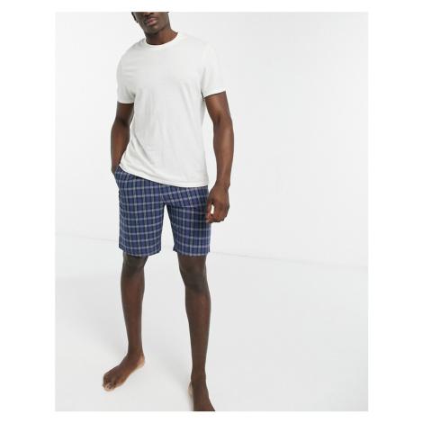 ASOS DESIGN lounge pyjmama shorts in blue check