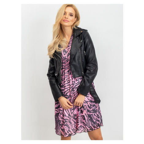 Patterned pink and black dress from RUE PARIS Fashionhunters