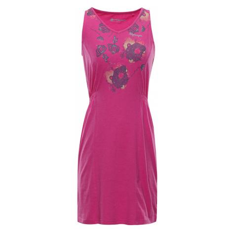 ALPINE PRO VICA Dámské šaty LSKN152415PB Fuchsiová růžová