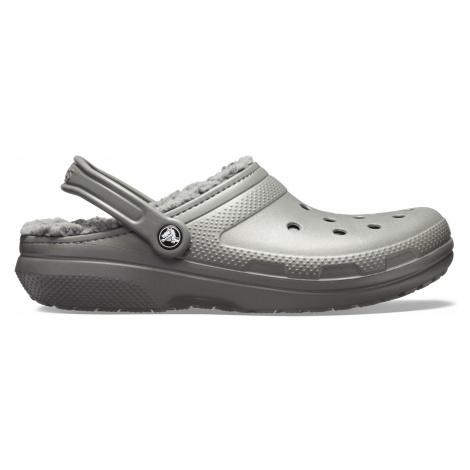 Crocs Classic Fuzz Lined Clog - Slate Grey/Smoke