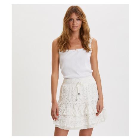 Sukně Odd Molly Swag Blossom Skirt - Bílá