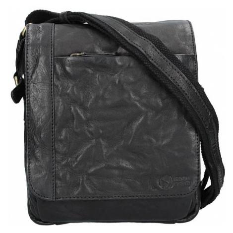 Pánská kožená taška přes rameno SendiDesign Timmy - černá Sendi Design