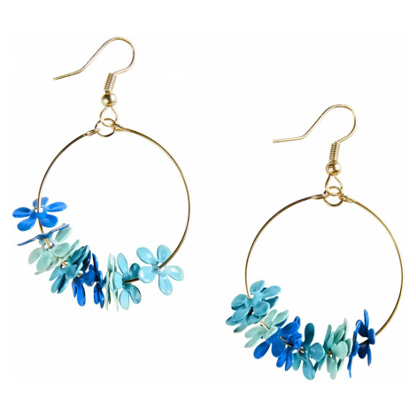 Blancheporte Náušnice modrá/zlatá
