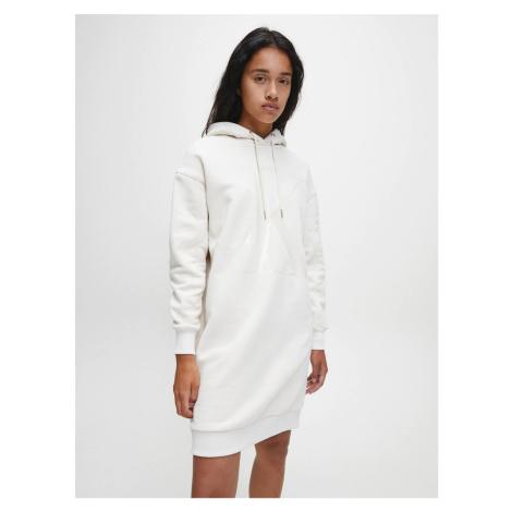 Calvin Klein dámské béžové mikinové šaty