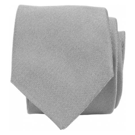 Světle šedá hedvábná kravata John & Paul