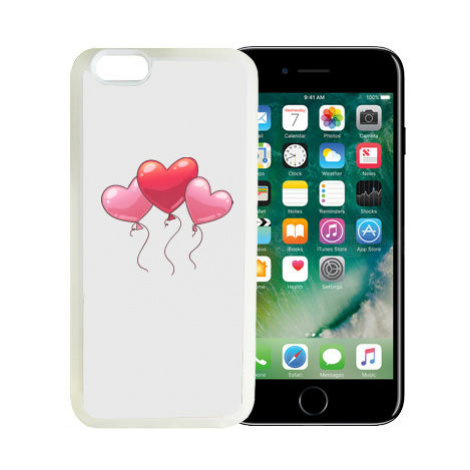 iPhone 7/8 kryt gumový soft heart balloon