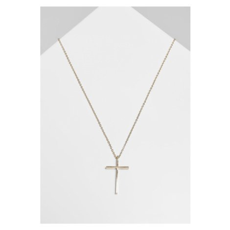 Big Basic Cross Necklace - gold Urban Classics