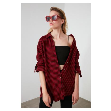 Trendyol Burgundy Crowbar Shirt