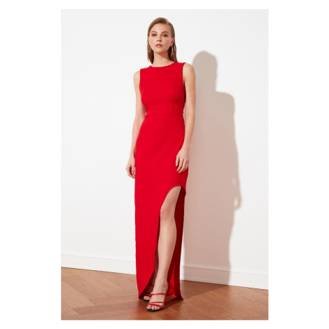 Trendyol Red Back Detail Evening Dress & Graduation Dress