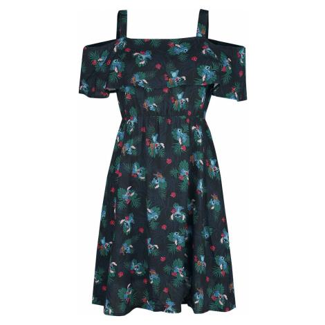 Lilo & Stitch Jungle šaty tmavě modrá