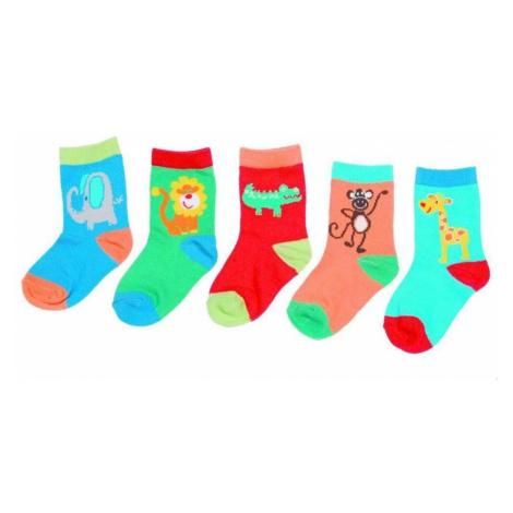 Dětské ponožky se zvířátky Meltem - 5 párů Pidilidi