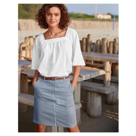 Blancheporte Pruhovaná rovná sukně indigo/bílá