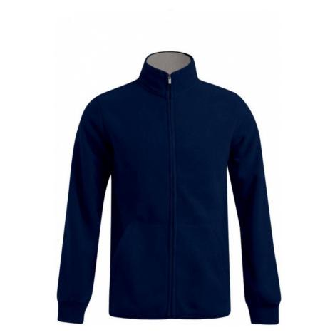 Pánská dvojitá fleece bunda P7971 - Námořní modř