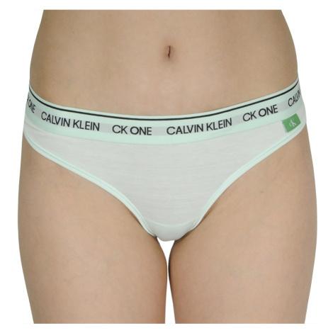 Dámská tanga CK ONE zelená (QF6209E-L2Y) Calvin Klein