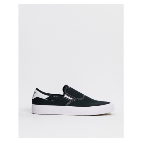 Adidas Originals 3MC Slip on trainers in black and white