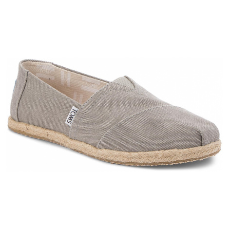 Espadrilky TOMS - Classic 10009754 Drizzle Grey Washed