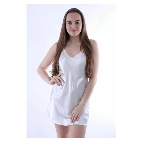 Saténová košilka Ibiza bílá