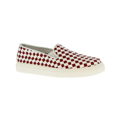 Leonardo Shoes TARA RED/WHITE Bílá