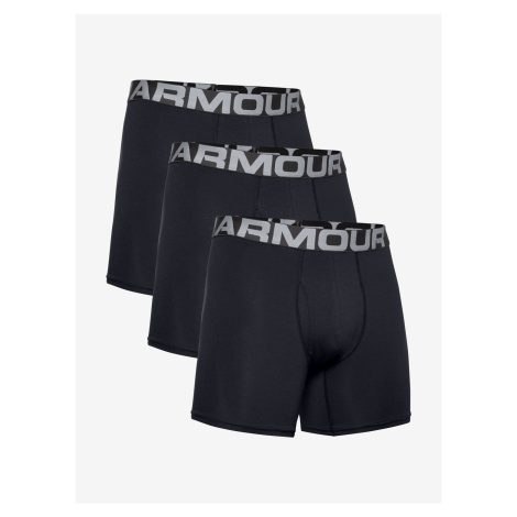 "Charged Cotton® 6"" Boxerky 3 ks Under Armour Černá"