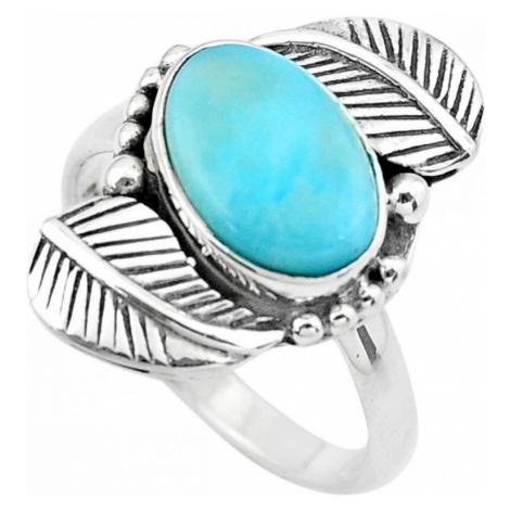 AutorskeSperky.com - Stříbrný prsten s larimarem - S3159