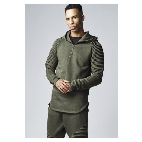 Pleat Sleeves Terry Hoody - olive Urban Classics