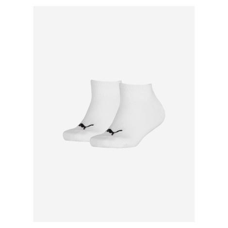 Ponožky 2 páry dětské Puma Bílá