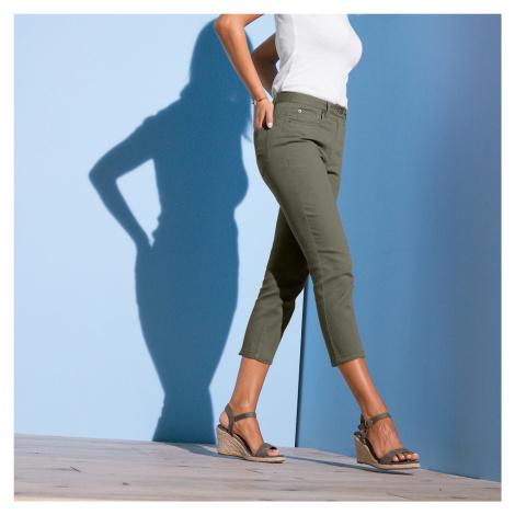 Blancheporte 3/4 slim džíny khaki