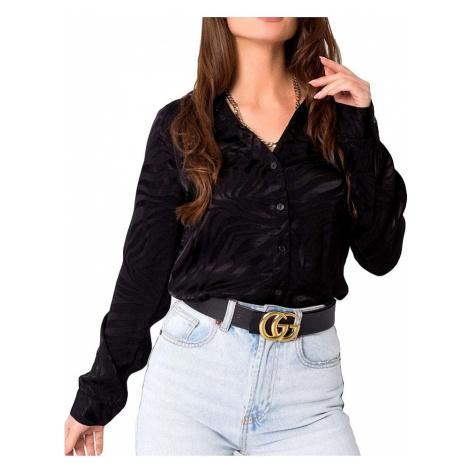 černá dámská sametová košile se vzorem Rue Paris