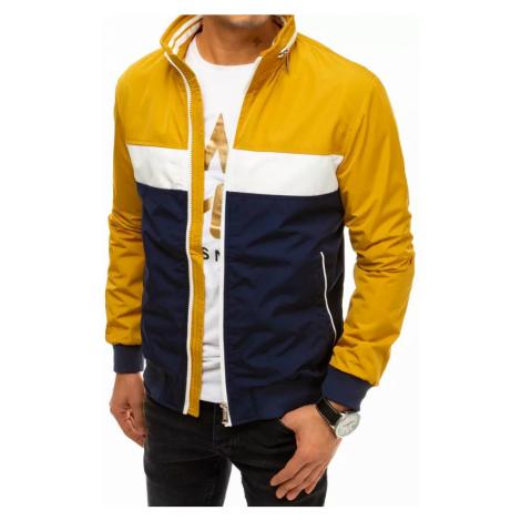 Dstreet Stylová žlutá bunda