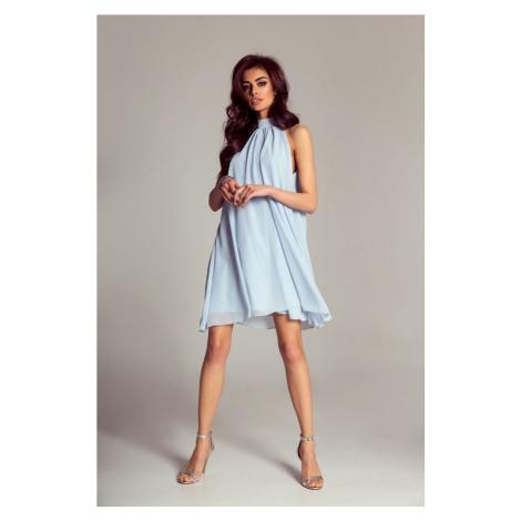 Dámské šifónové šaty ve světle modré barvě 216 IVON