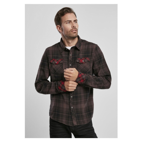 Duncan Checked Shirt - brown Urban Classics