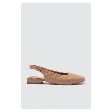 Trendyol Taba Quilted Women's Flat Shoe